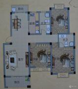 南越・西城华府3室2厅2卫125平方米户型图