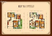 外海中央花园6室2厅3卫219平方米户型图