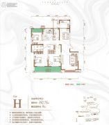 曲江龙邸4室2厅2卫182平方米户型图