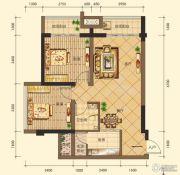 第五街2室2厅1卫86平方米户型图