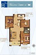 盛紫中央公园3室2厅1卫103平方米户型图