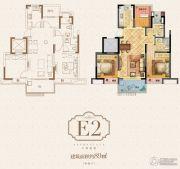 荣里3室2厅2卫89平方米户型图