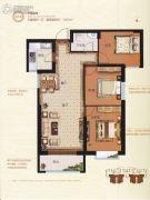 荣安广场3室2厅1卫110平方米户型图