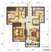金海天花园3室2厅1卫100平方米户型图