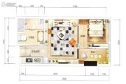 家汇生活广场1室1厅1卫0平方米户型图