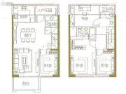 中航・玺樾4室2厅3卫108平方米户型图