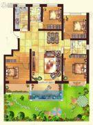 金色家园4室2厅2卫143平方米户型图