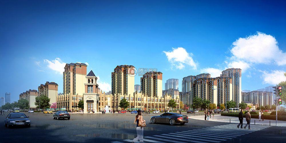 建业城沿街透视图
