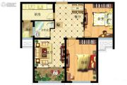 家天下2室2厅1卫82平方米户型图