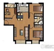 中信府3室2厅2卫87平方米户型图