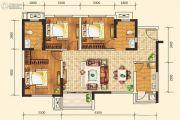 合能枫丹铂麓3室2厅2卫92平方米户型图