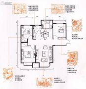 金色时光3室2厅1卫105平方米户型图