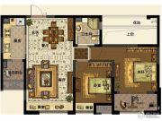 中交・南山美庐2室2厅1卫88平方米户型图