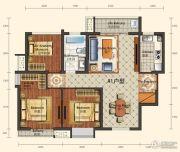 城中半岛2室2厅1卫98平方米户型图