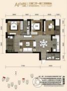 金尚俊园3室2厅2卫114--115平方米户型图