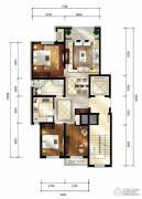 华润西山墅3室1厅2卫126平方米户型图