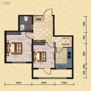 长堤湾2室2厅1卫69平方米户型图
