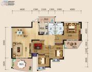 华商国际欧洲城4室2厅2卫141平方米户型图
