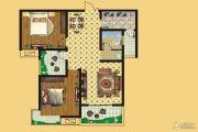 壹号公园2室2厅1卫105平方米户型图
