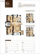 雨润中央宫园2室2厅1卫90--101平方米户型图