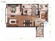 昆明广场3室2厅1卫89平方米户型图