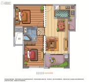 联发欣悦华庭2室2厅1卫0平方米户型图