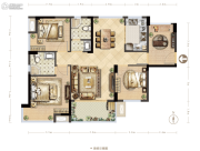 德润花园4室2厅2卫0平方米户型图
