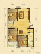 御景园3室2厅2卫92平方米户型图