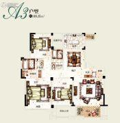 塞拉维3室2厅2卫148平方米户型图