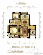 金世纪运河丽园2室2厅1卫88平方米户型图