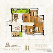 新恒基翡翠城3室2厅2卫141平方米户型图