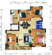 锦绣花园4室2厅2卫161平方米户型图