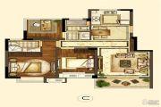 世茂招商语山3室2厅2卫88平方米户型图
