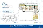 格力海岸3室2厅2卫150平方米户型图