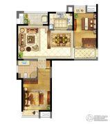 苏宁天御广场2室2厅1卫96平方米户型图