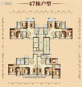 御景豪园3室2厅2卫0平方米户型图