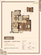 金都南德大院3室2厅1卫89平方米户型图
