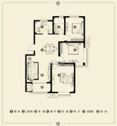 江南雅苑3室2厅1卫100--110平方米户型图