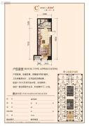 华府新天地1室1厅1卫44平方米户型图