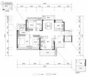 壹城中心4室2厅2卫0平方米户型图