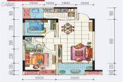 地铁首座2室2厅1卫67平方米户型图