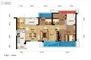碧桂园城市花园3室2厅2卫108平方米户型图