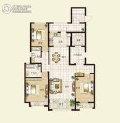 华明星海湾3室2厅2卫135平方米户型图