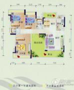美林假日3室2厅2卫0平方米户型图