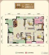 汉江新城4室2厅1卫0平方米户型图