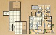 东方今典4室2厅2卫161平方米户型图