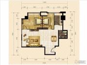 金桥国际2室2厅1卫102平方米户型图