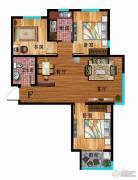 华普城3室2厅1卫103平方米户型图