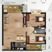 中南明珠2室2厅1卫64平方米户型图