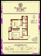 浦江国际1室1厅1卫0平方米户型图